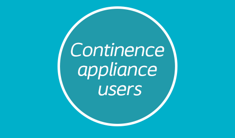 Continence appliance users