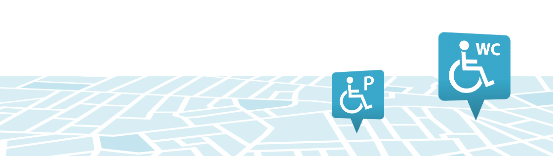Find wheelchair-accessible toilets  and parking spaces near you